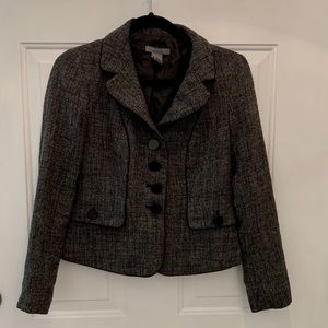 Ann Taylor Dark Gray Tweed Blazer 2P